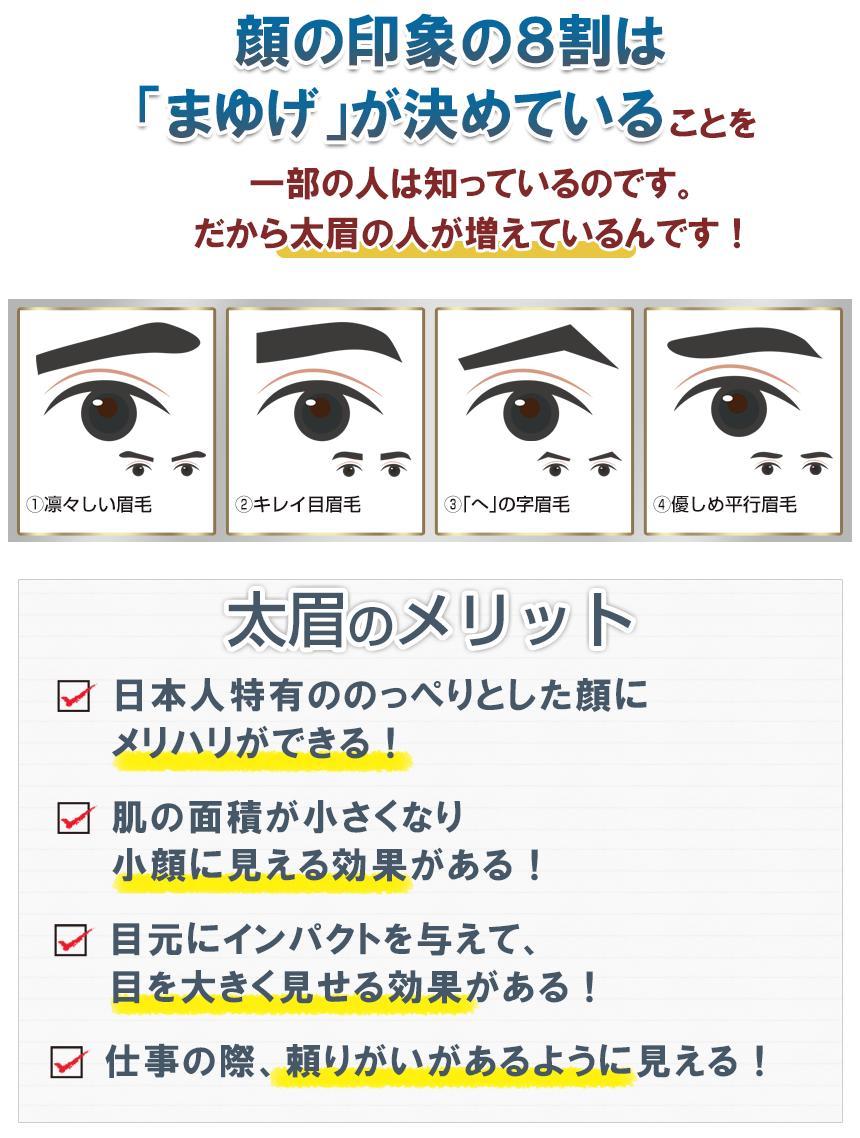 眉毛が顔の印象の8割を決めている