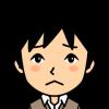 悲しい顔の男性の小さな画像