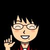 指をさし説明する笑顔の女性の小さい画像