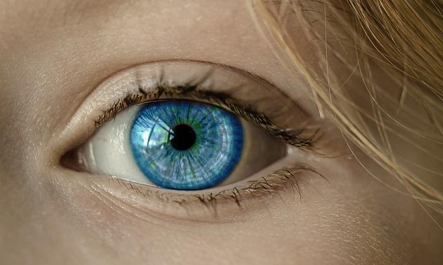 女性の美しい瞳アップ